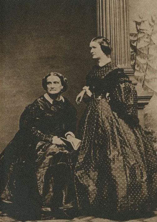 Charlotte Cushman and Emma Stebbins